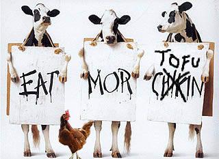eat more chickin, errr tofu