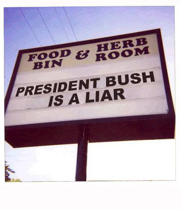bush is liar