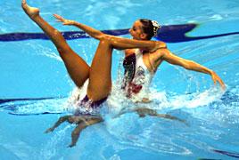sync swimming