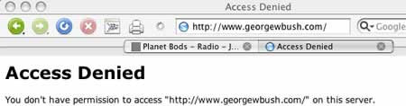 gwbush.com access denied to forgnners