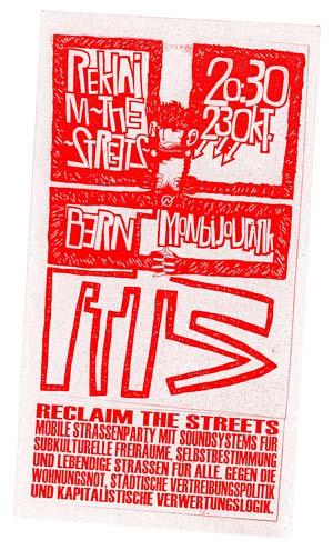 reclaim the streets bern switzerland