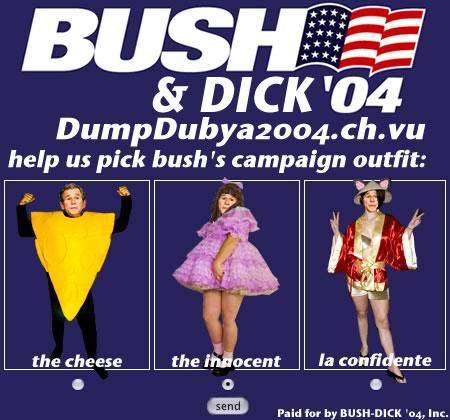 dump dubya - he's badly dressed